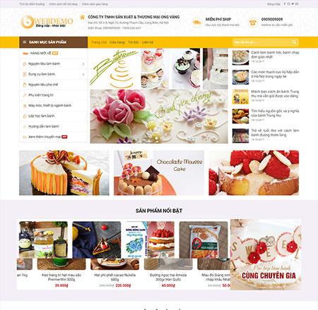 Web bán hàng bánh ngọt