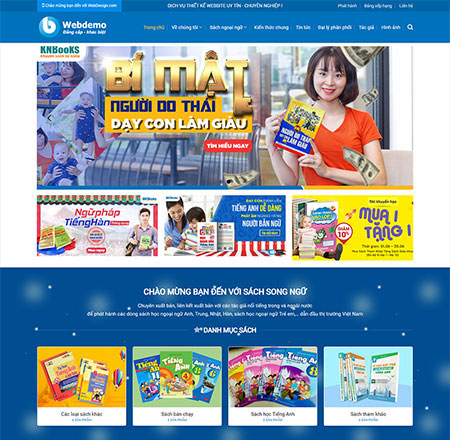 Giao diện website bán hàng sách
