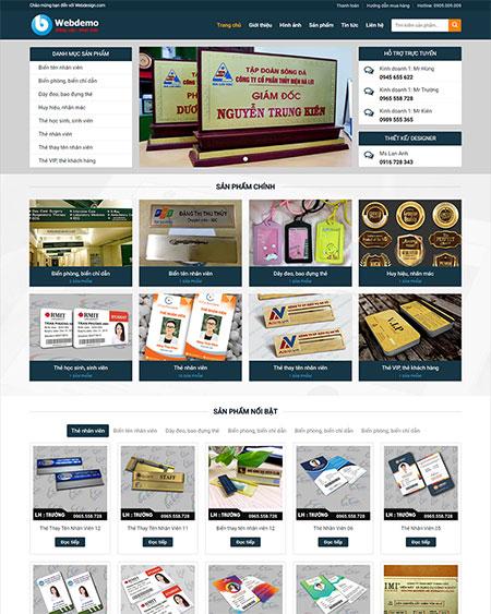 Website bán hàng in ấn tại Web AZ