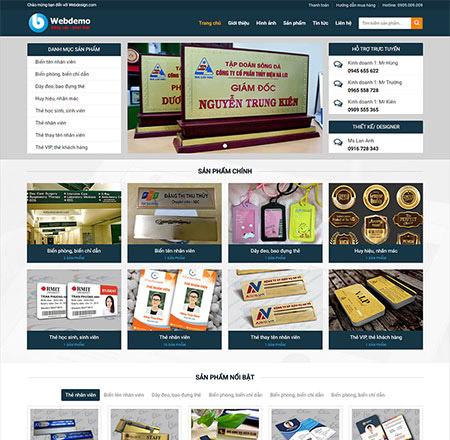 Mẫu web bán hàng in ấn