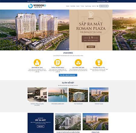 Mẫu web bất động sản 1