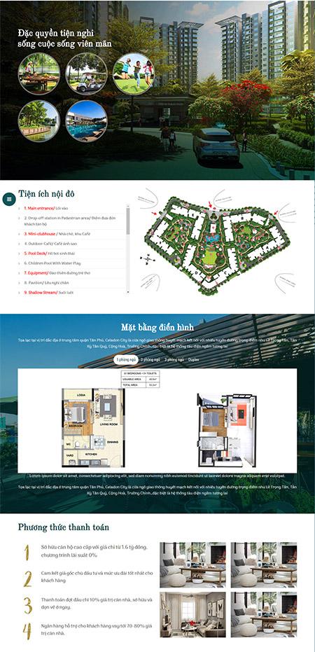 Giao diện trang chủ web bất động sản - Main