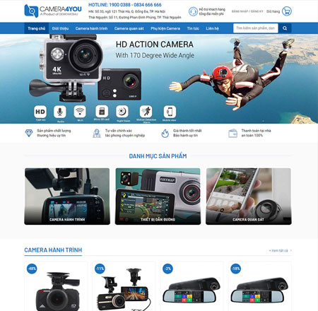 Web shop bán camera
