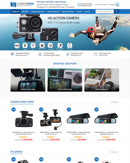web shop ban camera