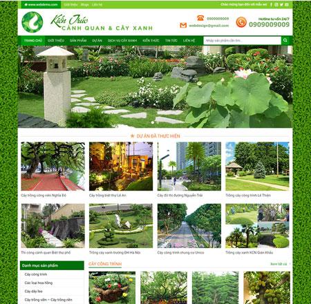 website bán cây xanh