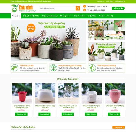web bán chậu cây