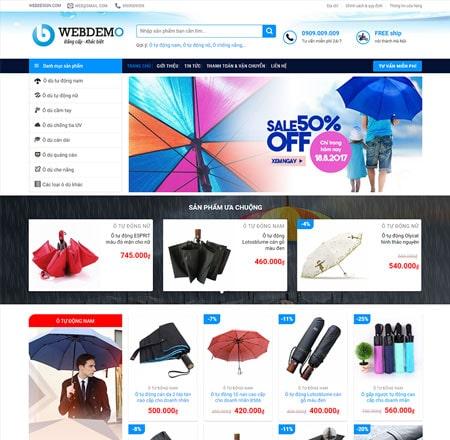 Web bán hàng áo mưa