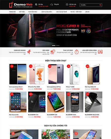 Web bán hàng điện thoại