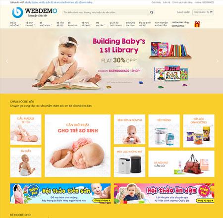 Web bán hàng mẹ và bé
