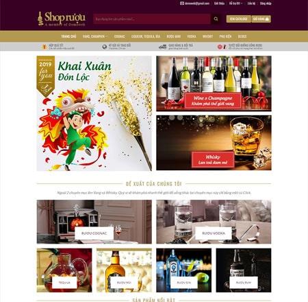 Web bán hàng rượu