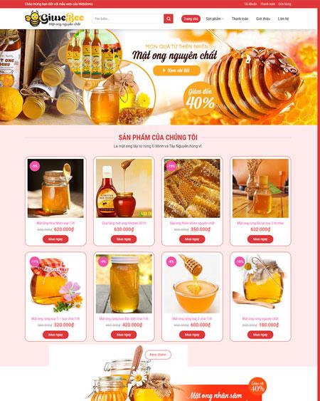 Web bán hàng mật ong