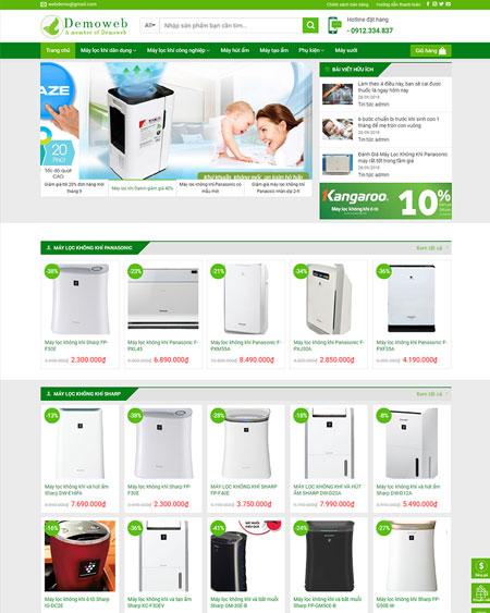 Web bán hàng máy lọc khí