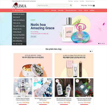 Web bán hàng mỹ phẩm