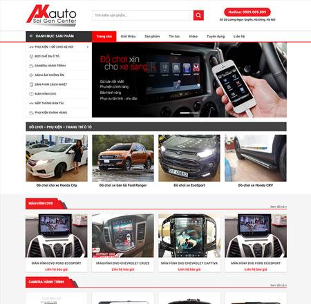Web bán xe oto