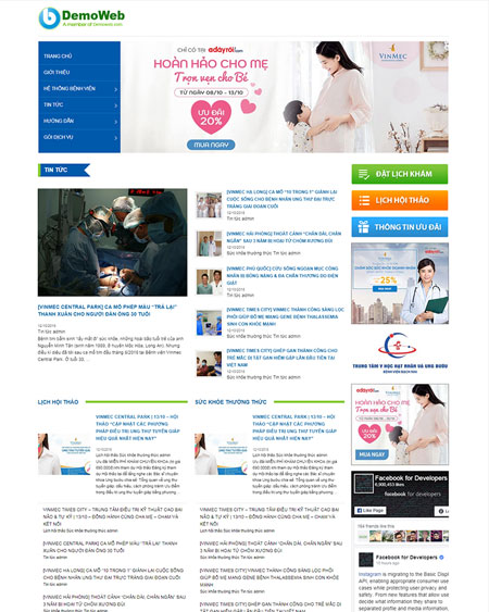 Website bệnh viện - phòng khám