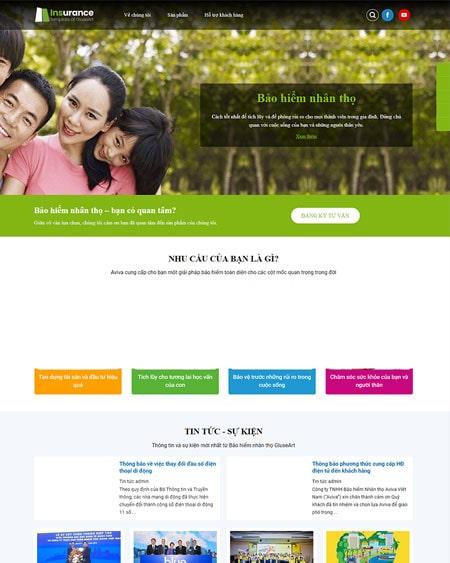 Website công ty bảo hiểm