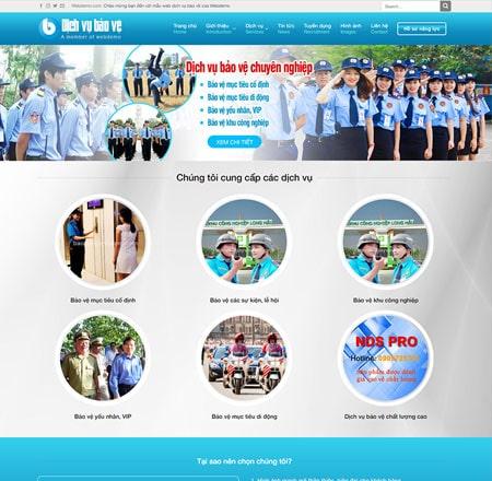 Website công ty bảo vệ