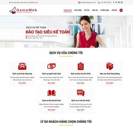 Website công ty kế toán