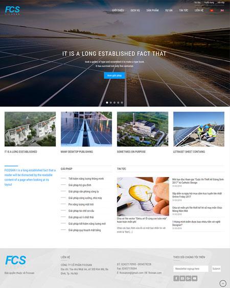 Website công ty năng lượng mặt trời