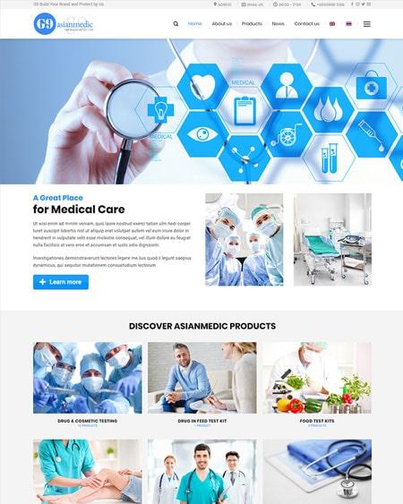 Website công ty thiết bị y tế