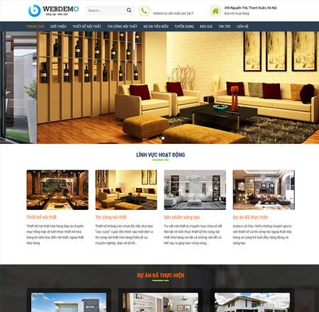 Website thiết kế nội thất 3