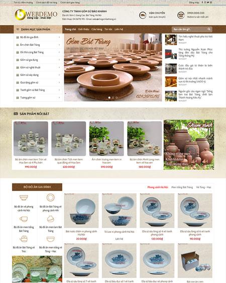 Web bán hàng làm gốm