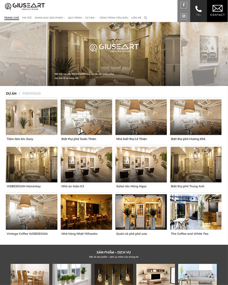 Website nội thất 1