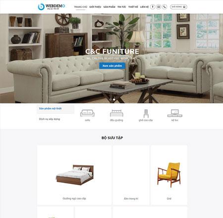 Website thiết kế nội thất 2