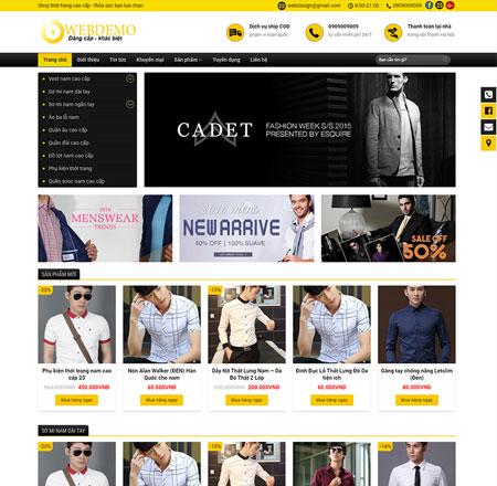 Web shop thời trang nam