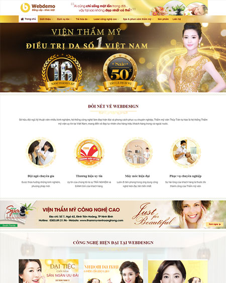 Website Thẩm mỹ viện 2