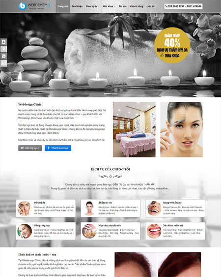 Website thẩm mỹ viện - Spa 5