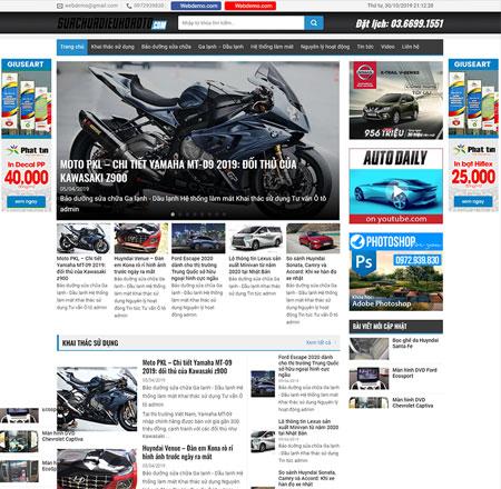 Website tin tức xe cộ