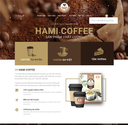 Website bán Coffee