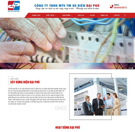 Website công ty thiết bị điện