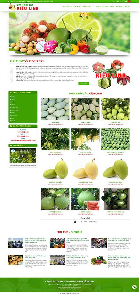 Website bán trái cây